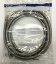 "Braided Stainless Steel Hose for Ice Machine 6' 1/4"" OD Connections Cat No. 335S072"