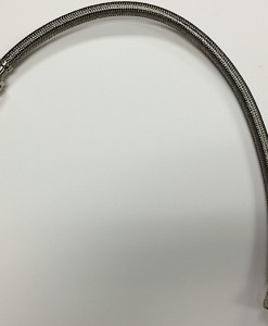 """Braided Stainless Steel 3/8 Comp X ½ IP 20"""" Lav Supply with Brass Nut"""
