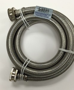 Braided Stainless Steel 4' Washing Machine Hose Cat. No. 726H004