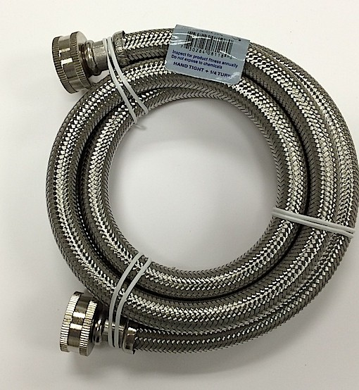 braided stainless steel 4 washing machine hose cat no 726h004 crest good. Black Bedroom Furniture Sets. Home Design Ideas