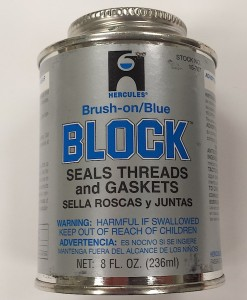 Hercules Brand Brush On Blue Block # 15-707 8oz. Cat. No. 656H009