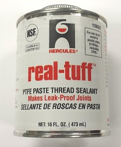 Hercules Brand REAL TUFF PTFE Paste Thread Sealant 16 oz. #15625/Cat. No. 656H011