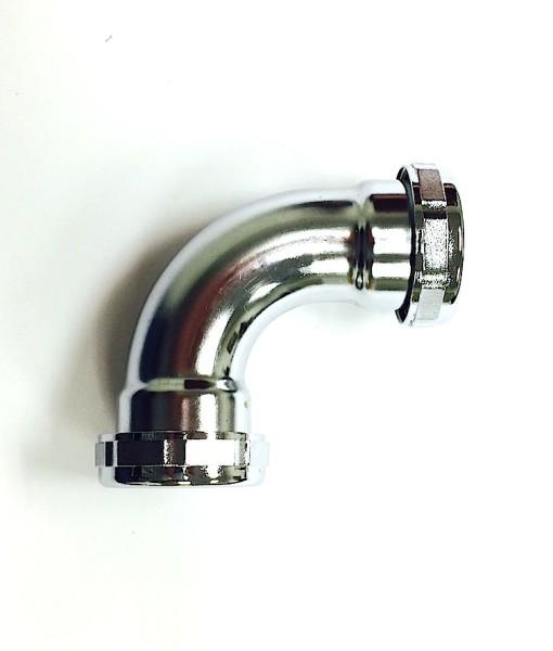 1 ¼  90 Degree CP Brass SJ Elbow 22GA Zinc Nuts