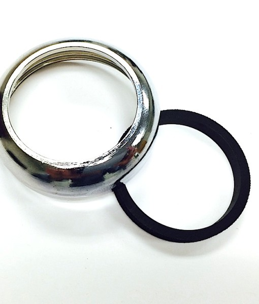 1 ¼ Heavy Chrome Plated Brass Slip Nut With Washer