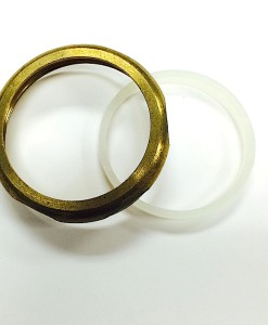 2 X 1 ½  Heavy Brass Reducing Slip Nut With Washer