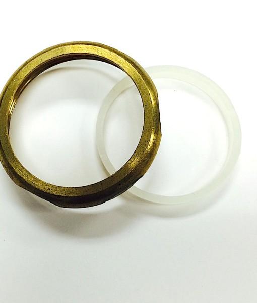 2 X 1 ½  Heavy Brass Reducing Slip Nut With Washer