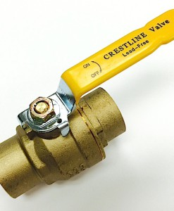 "Crestline 1 1/2"" C X C Full Port Lead Free Ball Valve"