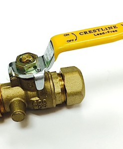 "½"" Compression Standard Port Lead Free Ball Valve"