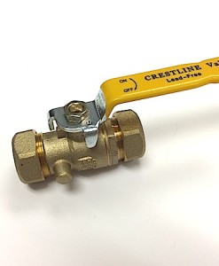"3/4"" Compression Standard Port Lead Free Ball Valve"