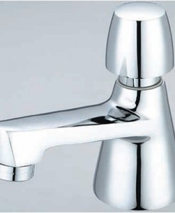 Central Brass 0356-AN2H Single Handle Hot Button Slow-Close Basin Faucet Cat. No. 949I203