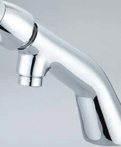 Central Brass 0356-AN2H Single Handle Hot Button Slow-Close Basin Faucet