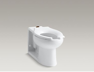 Kohler Anglesey K-4386-0 Floor-Mounted Wall Outlet 1.6 gpf Flushometer Valve Bowl Cat. No. 9KO4386