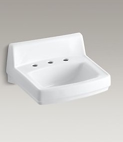 "Kohler Greenwich K-2032-0 Sink 4"" Centers Cat. No. 9KO6332"