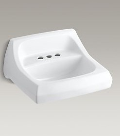 "Kohler Kingston K-2005-0 Sink 4"" Centers Cat. No. 9KO6305"