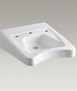 "Kohler Morningside K-12634-0 Wheelchair Sink 11-1/2"" Centers Cat. No. 9KO6334"