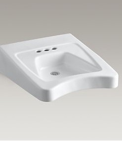 "Kohler Morningside K-12636-0 Wheelchair Sink 4"" Centers Cat. No. 9KO6335"