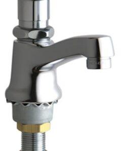 Chicago Faucet 333-SLOE12PSHABCP Single Hole Metering Faucet Cat. No. 9CF1233
