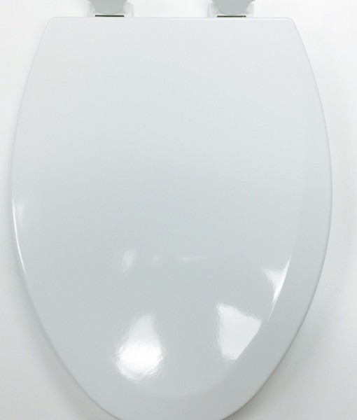 Bemis 1500EC-000 White Molded Wood Toilet Seat Cat. No. 856P011