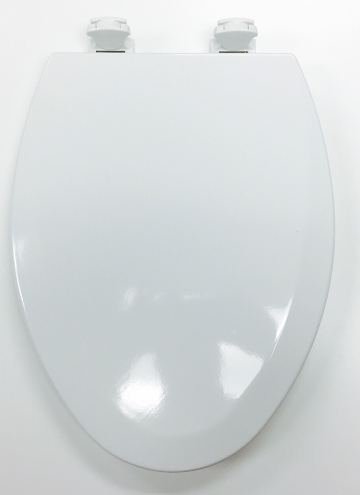 wooden white toilet seat.  Bemis 1500EC 000 White Molded Wood Toilet Seat Cat No 856P011