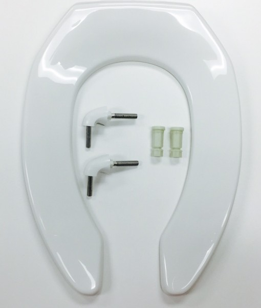 Bemis 2155CT-000 White Anti-Microbial Toilet Seat, Cat. No. 856P009