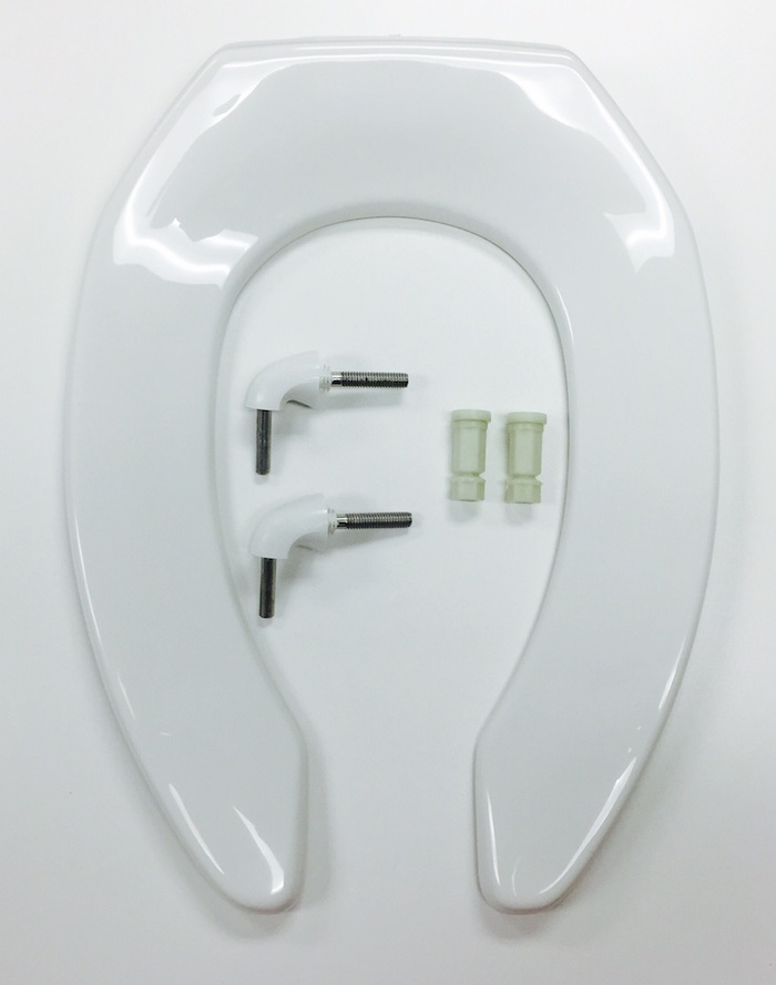 Outstanding Bemis 2155Ct 000 White Anti Microbial Toilet Seat Cat No Dailytribune Chair Design For Home Dailytribuneorg