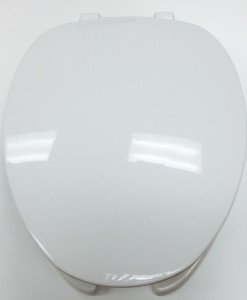 Centoco #620 White Elong. O/F Toilet Seat with Cover Cat. No. 856P044