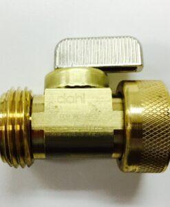 Brass 'PiggyBack' Garden Hose Shutoff Valve Cat. No. 765B025
