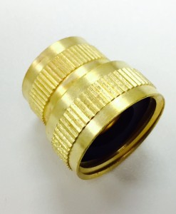 "3/4 Female Hose X 1/2"" FIP Brass Hose Fitting Cat. No. 765B009"