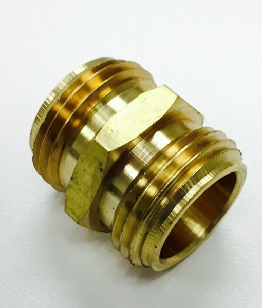 3/4 Male Hose X 3/4 Male Hose Brass Adapter Cat. No. 765B006