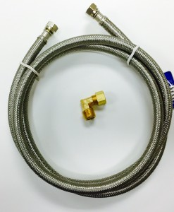 "60"" Stainless Steel Hose Dishwasher Connection Kit Cat. No. 335S160"